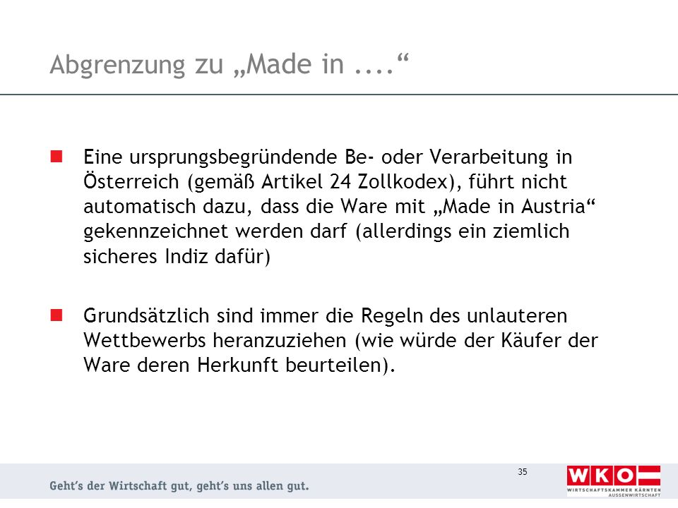 "Abgrenzung zu ""Made in ...."