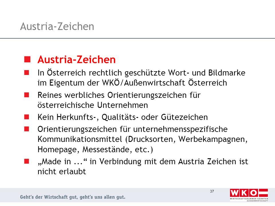 Austria-Zeichen Austria-Zeichen