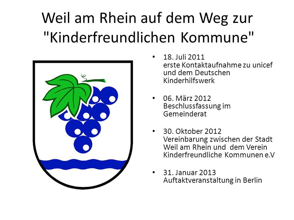 Weil am Rhein auf dem Weg zur Kinderfreundlichen Kommune