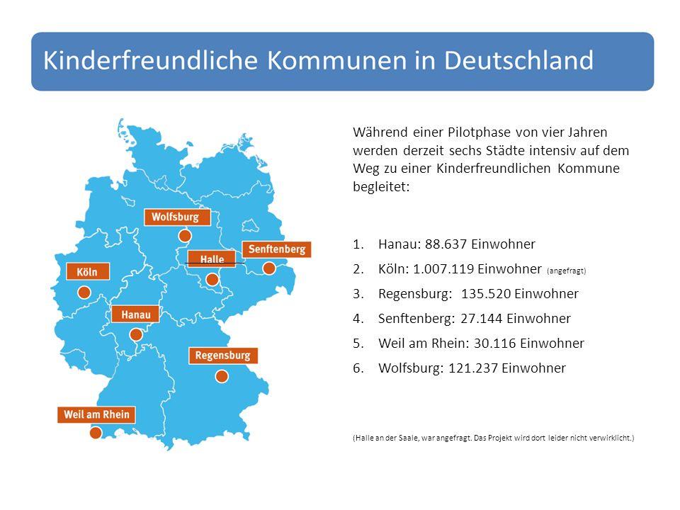 Köln: 1.007.119 Einwohner (angefragt) Regensburg: 135.520 Einwohner