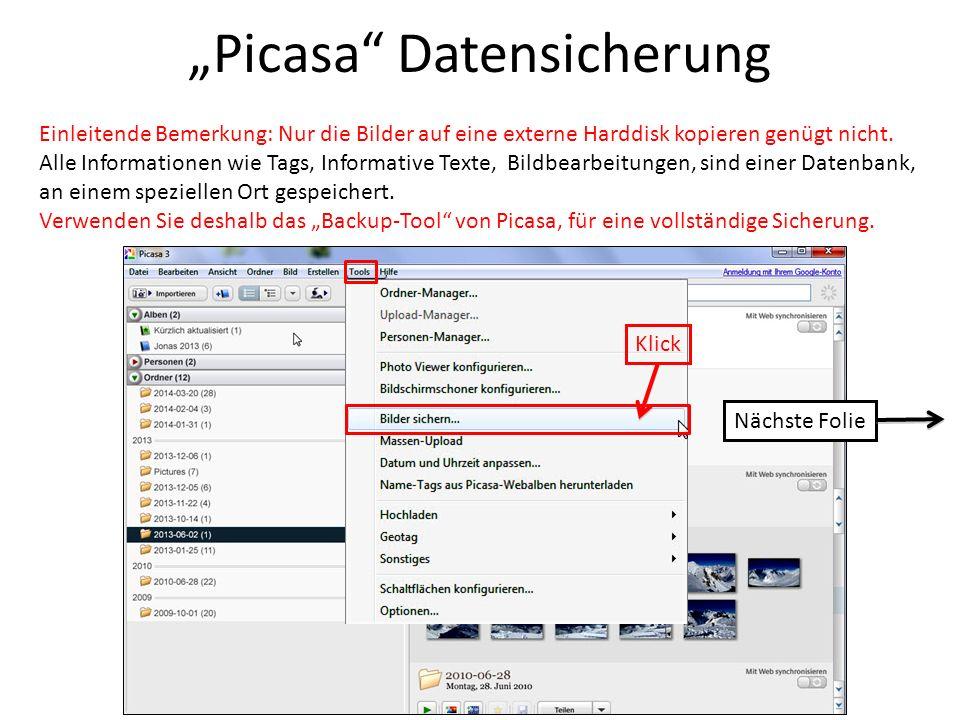 """""""Picasa Datensicherung"""