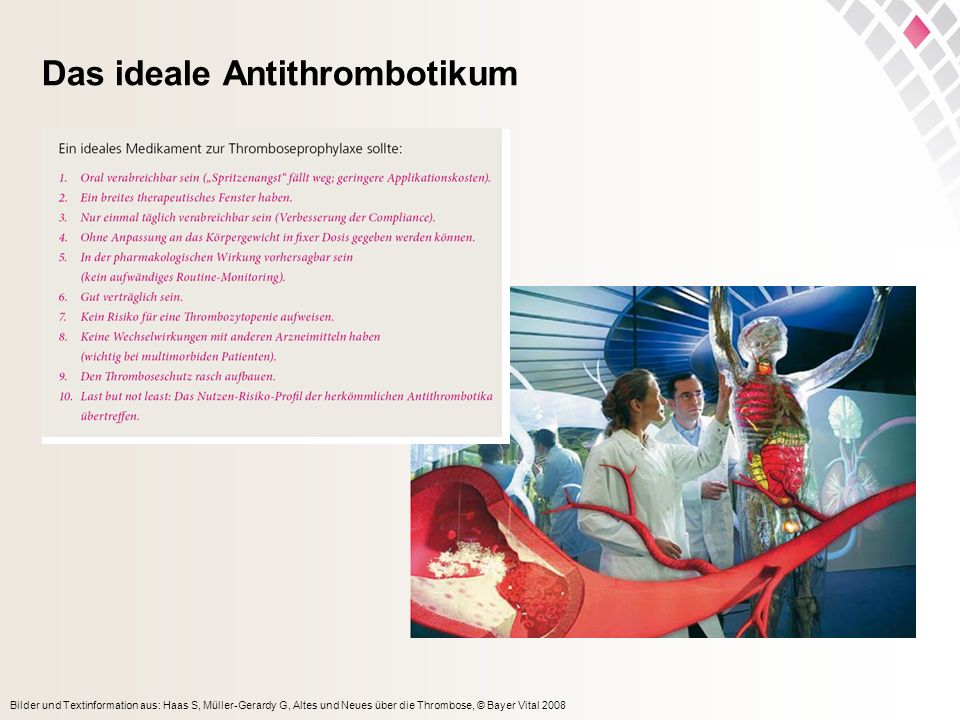 Das ideale Antithrombotikum