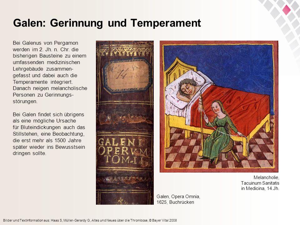 Galen: Gerinnung und Temperament
