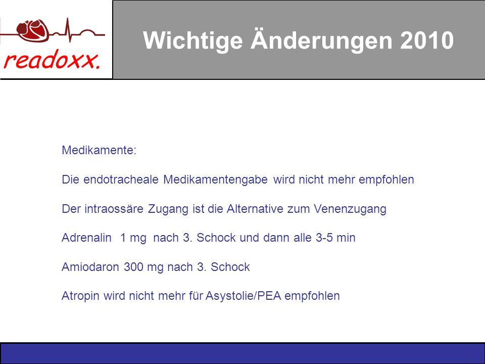 Wichtige Änderungen 2010 Medikamente: