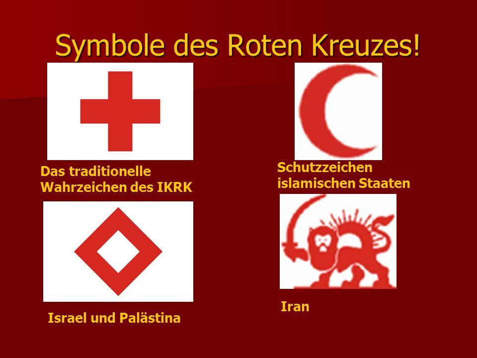 Symbole des Roten Kreuzes!
