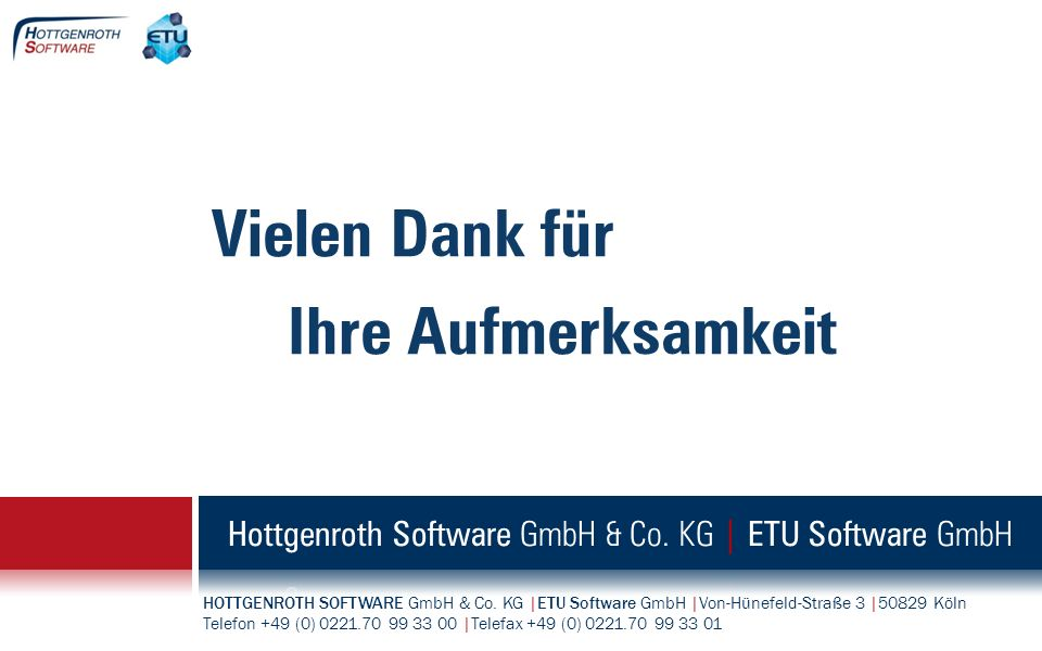 Hottgenroth Software GmbH & Co. KG | ETU Software GmbH