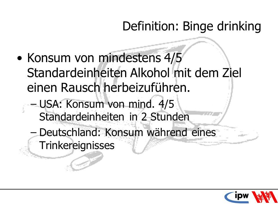 Definition: Binge drinking