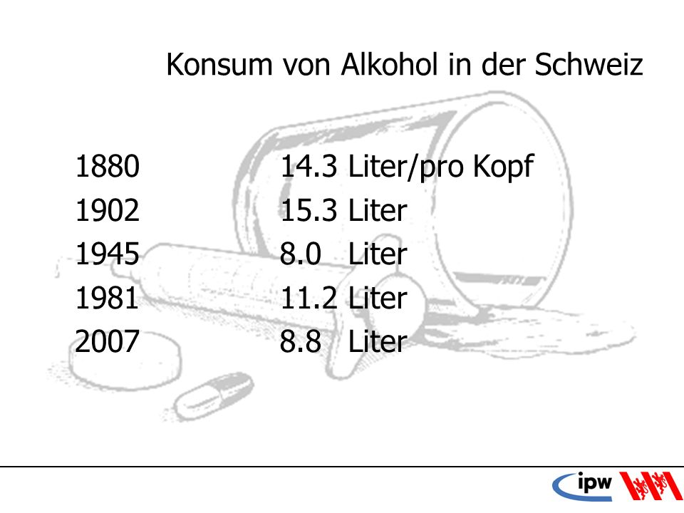 Konsum von Alkohol in der Schweiz