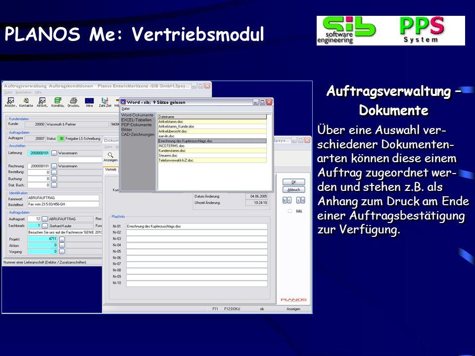 Auftragsverwaltung –Archivierte Formulare