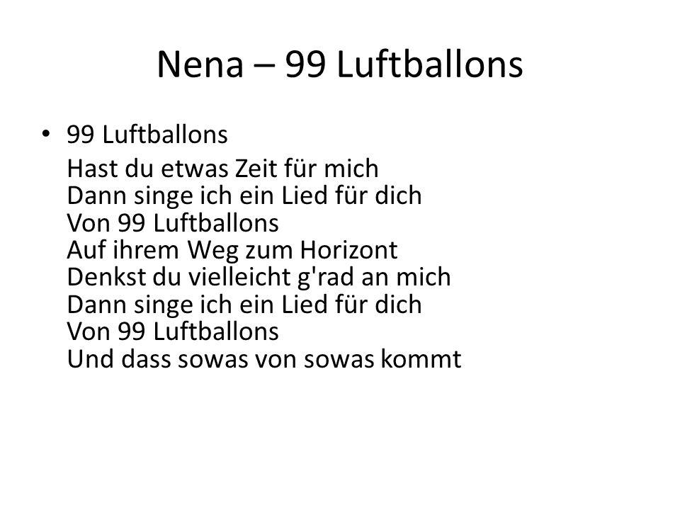 Nena – 99 Luftballons 99 Luftballons