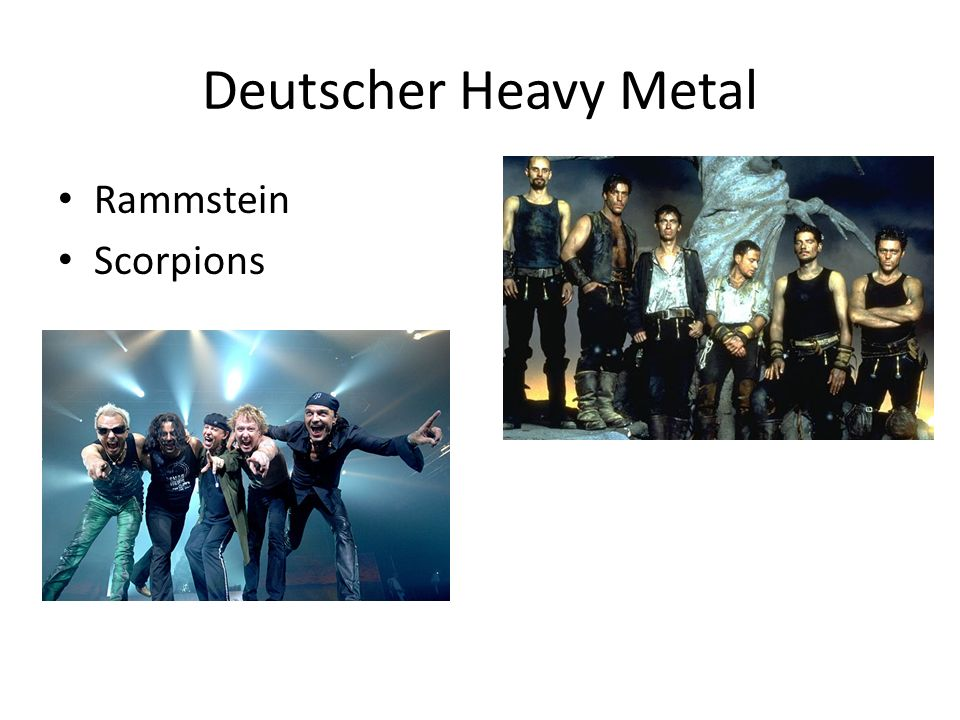Deutscher Heavy Metal Rammstein Scorpions
