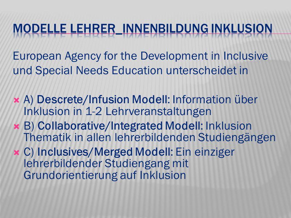 Modelle Lehrer_innenbildung Inklusion