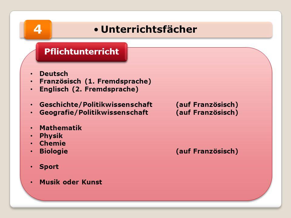 4 Unterrichtsfächer Pflichtunterricht Deutsch