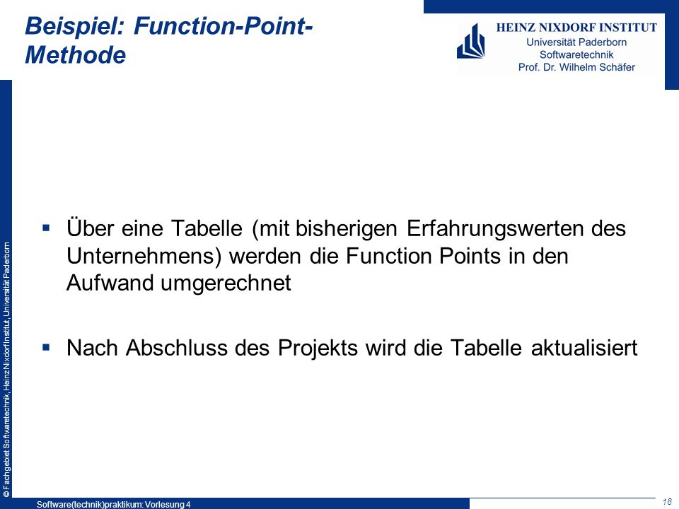 Beispiel: Function-Point-Methode
