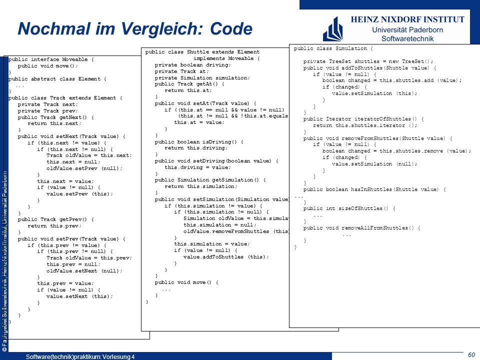 Nochmal im Vergleich: Code