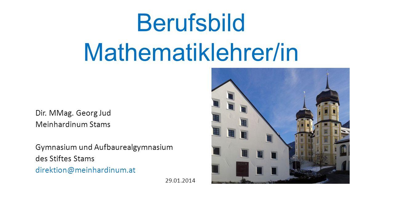 Berufsbild Mathematiklehrer/in