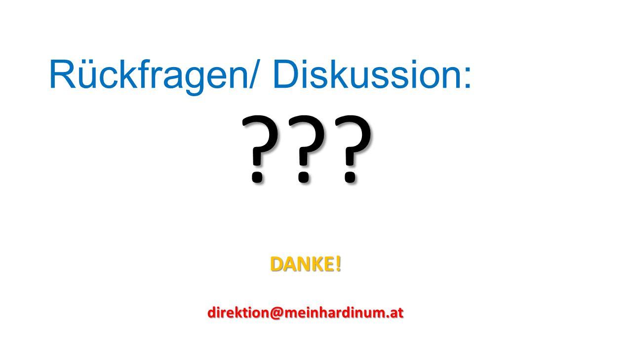 Rückfragen/ Diskussion: