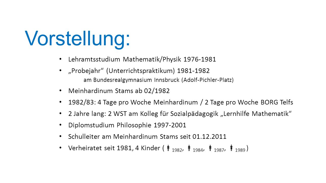 Vorstellung: Lehramtsstudium Mathematik/Physik 1976-1981