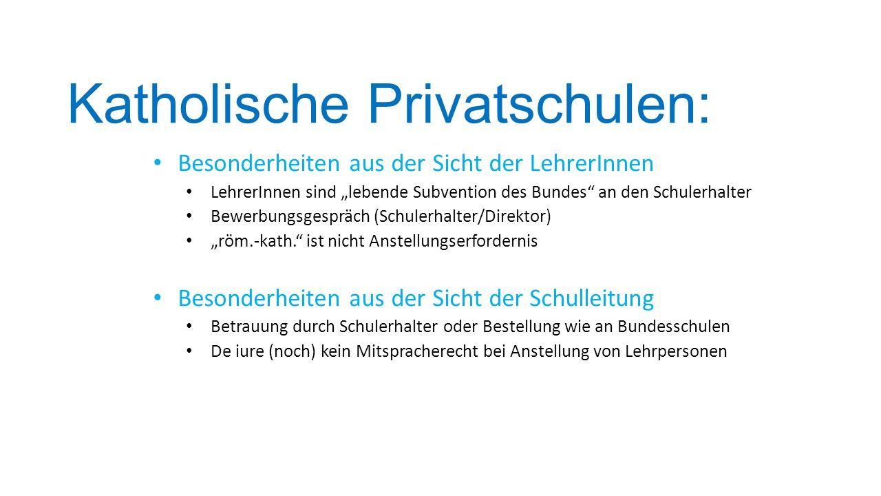 Katholische Privatschulen: