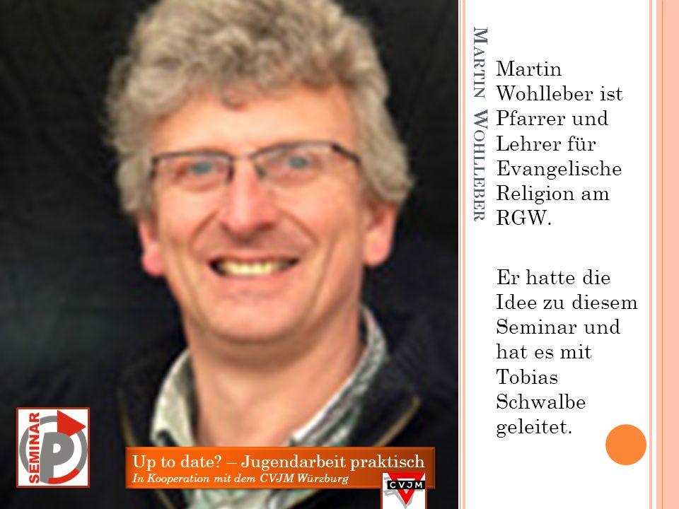 Martin Wohlleber ist Pfarrer und Lehrer für Evangelische Religion am RGW.