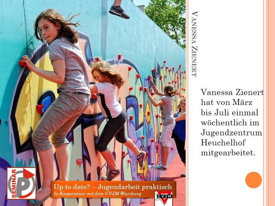 Vanessa Zienert hat von März bis Juli einmal wöchentlich im Jugendzentrum Heuchelhof mitgearbeitet.