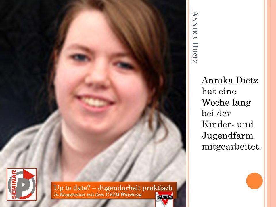 Annika Dietz hat eine Woche lang bei der Kinder- und Jugendfarm mitgearbeitet.