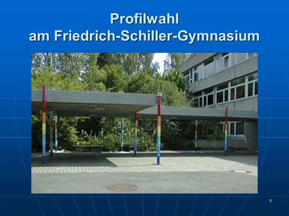 Profilwahl am Friedrich-Schiller-Gymnasium