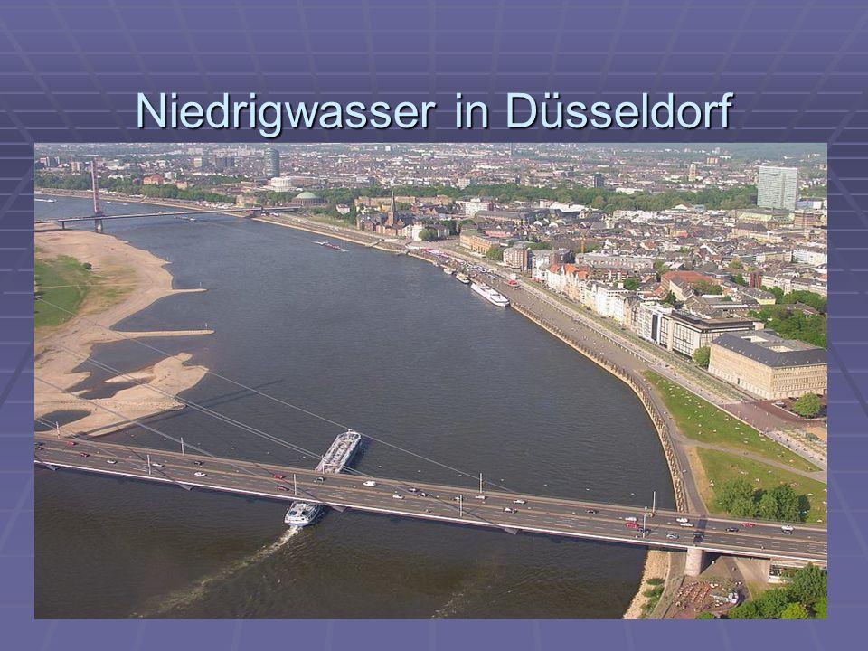 Niedrigwasser in Düsseldorf