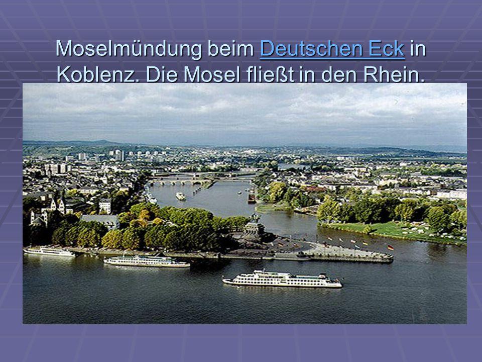 Moselmündung beim Deutschen Eck in Koblenz