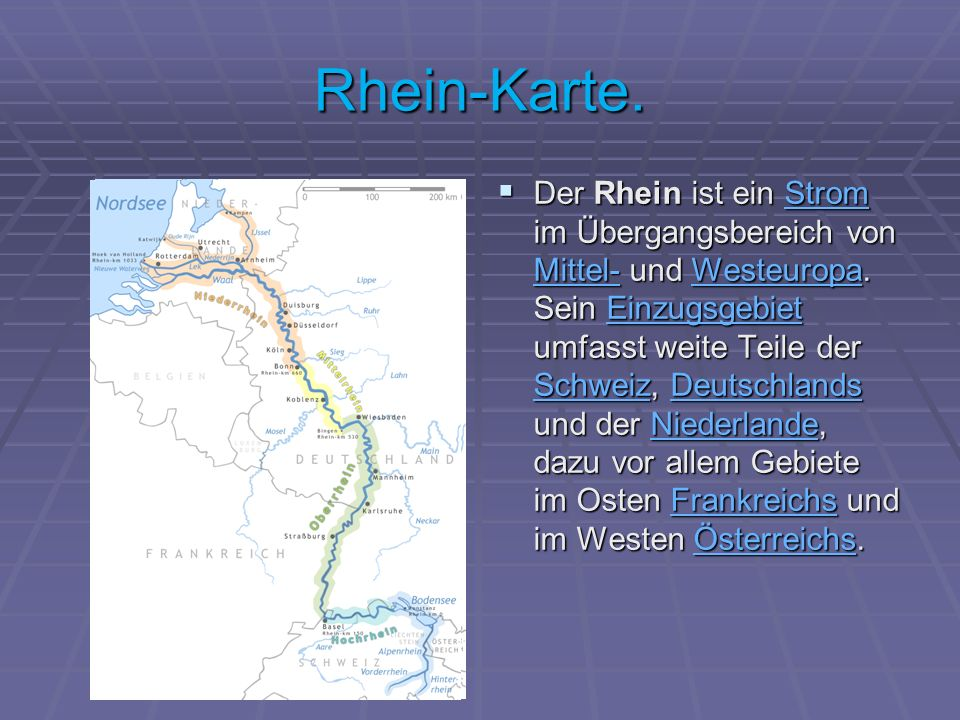 Rhein-Karte.