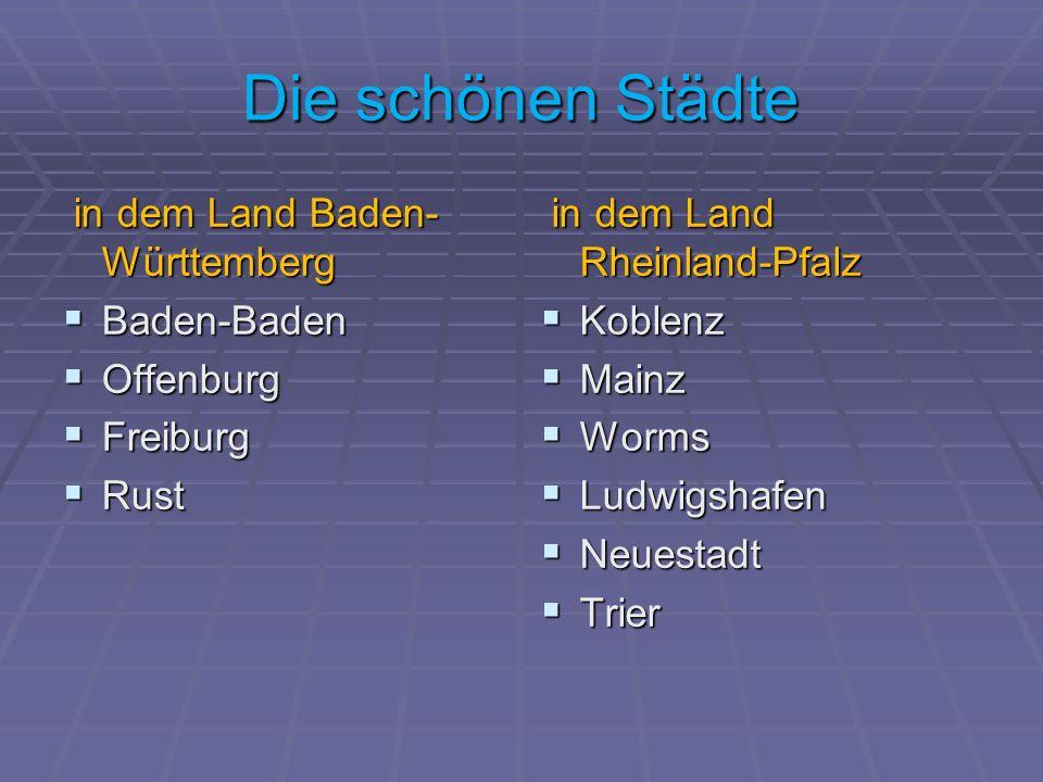 Die schönen Städte in dem Land Baden-Württemberg Baden-Baden Offenburg