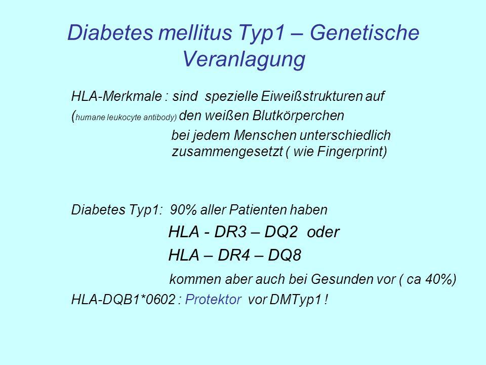 Diabetes mellitus Typ1 – Genetische Veranlagung