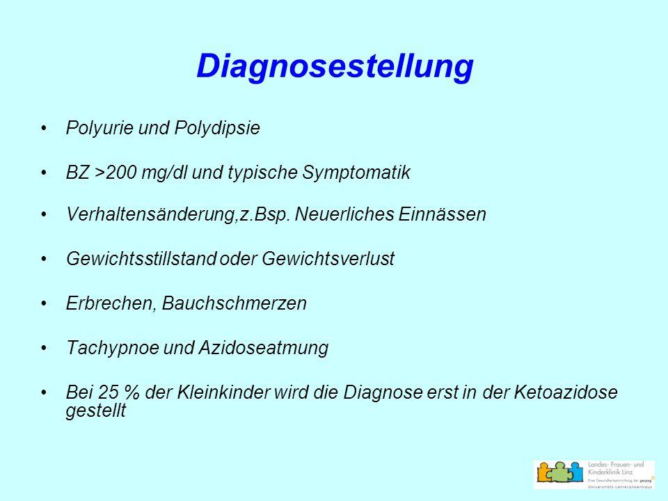 Diagnosestellung Polyurie und Polydipsie