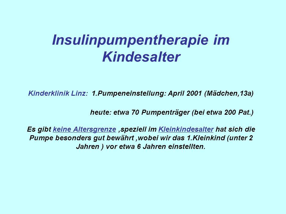 Insulinpumpentherapie im Kindesalter Kinderklinik Linz: 1