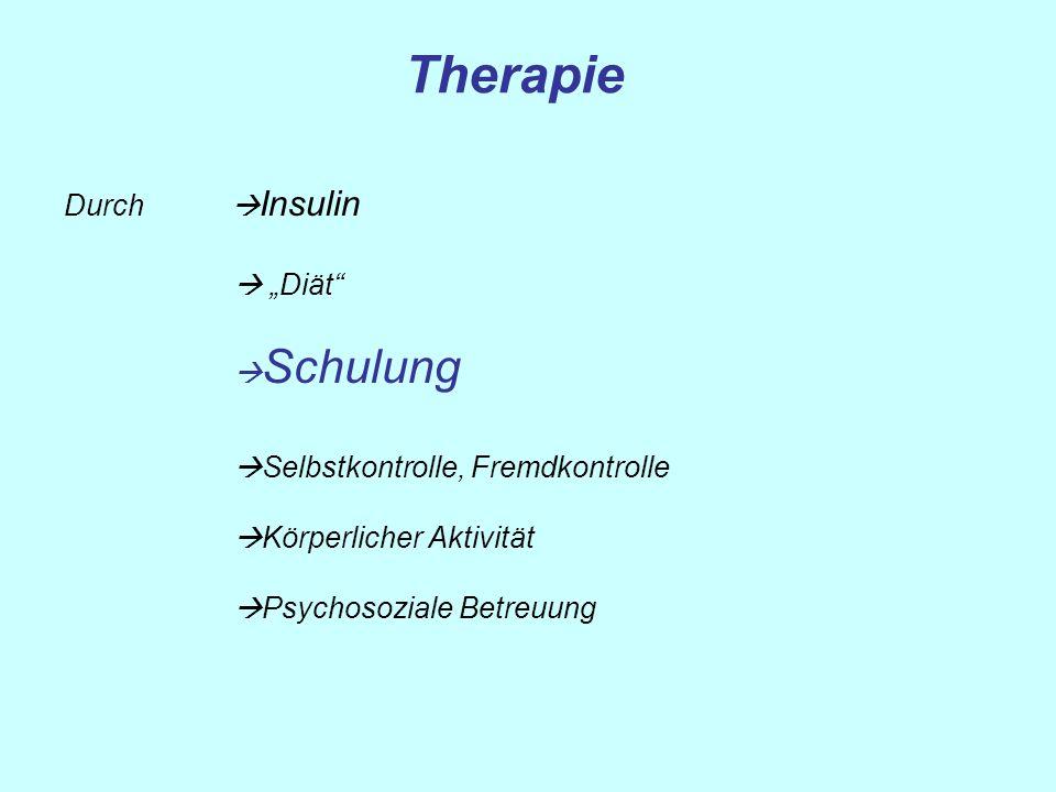 "Therapie Durch Insulin  ""Diät Schulung"