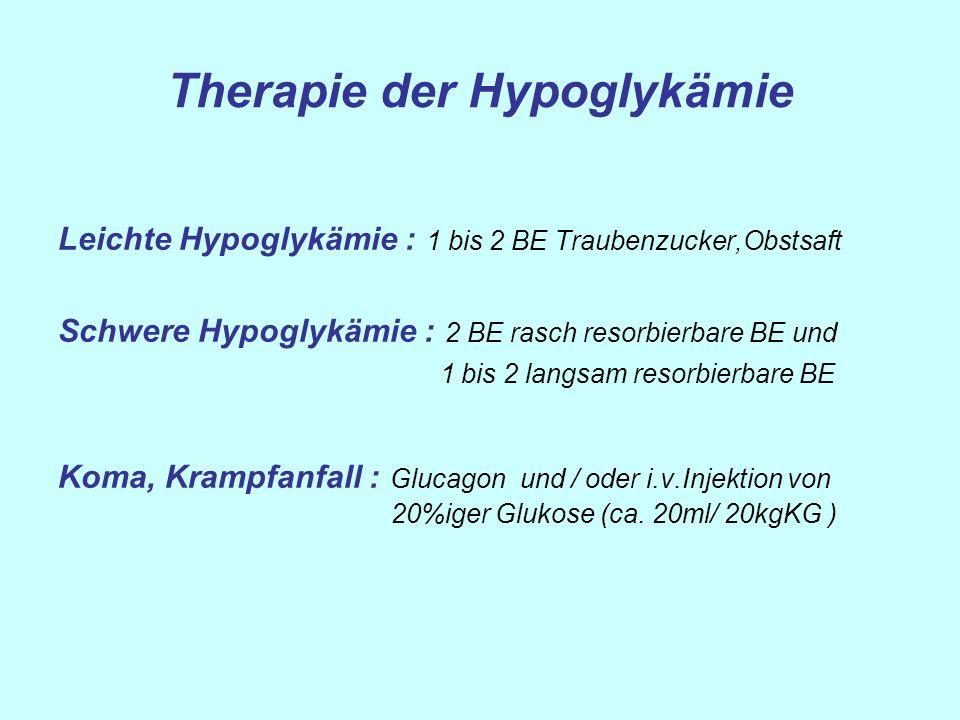 Therapie der Hypoglykämie