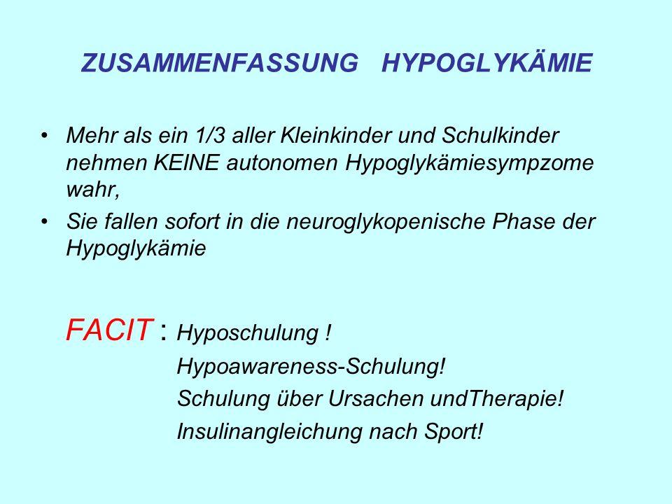 ZUSAMMENFASSUNG HYPOGLYKÄMIE