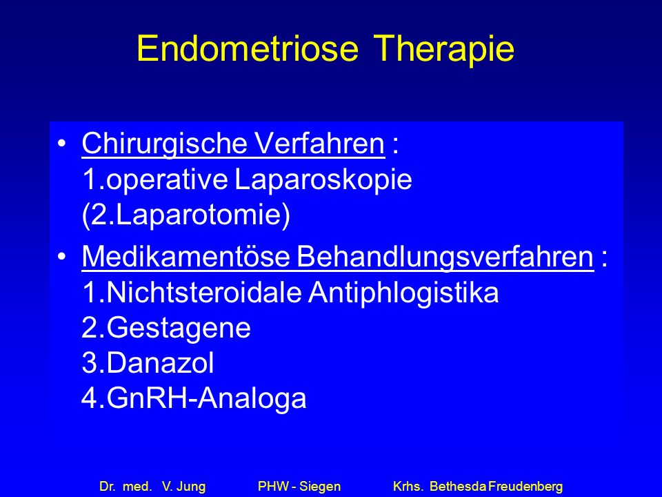 Endometriose Therapie