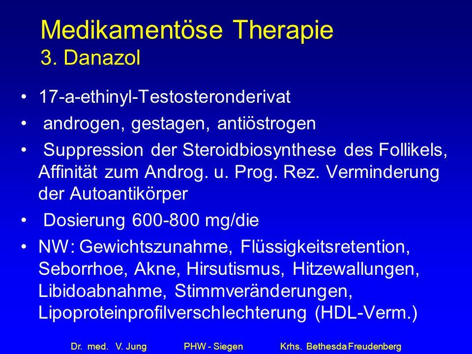 Medikamentöse Therapie 3. Danazol