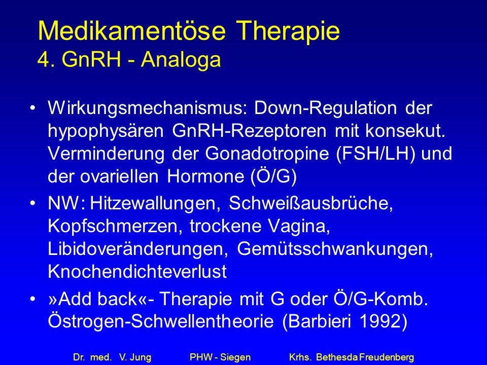 Medikamentöse Therapie 4. GnRH - Analoga