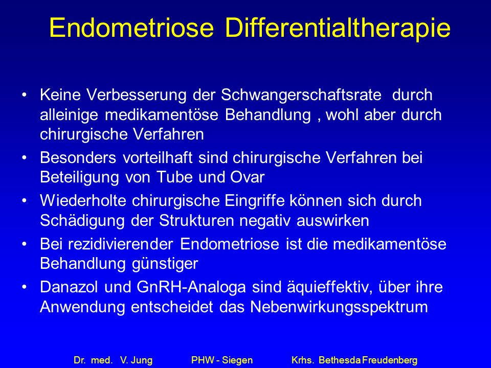 Endometriose Differentialtherapie