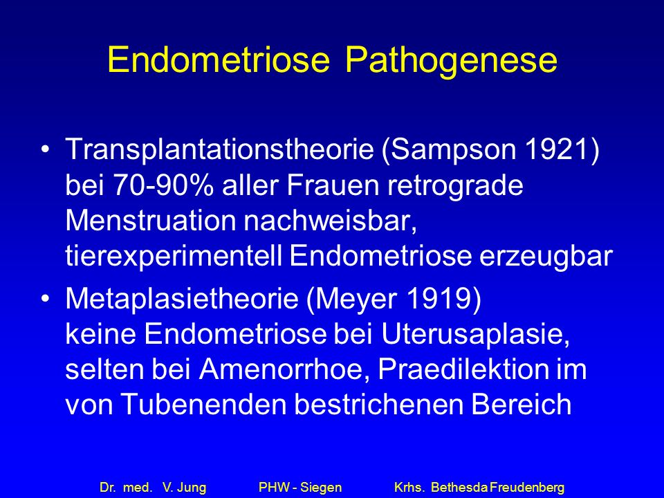 Endometriose Pathogenese