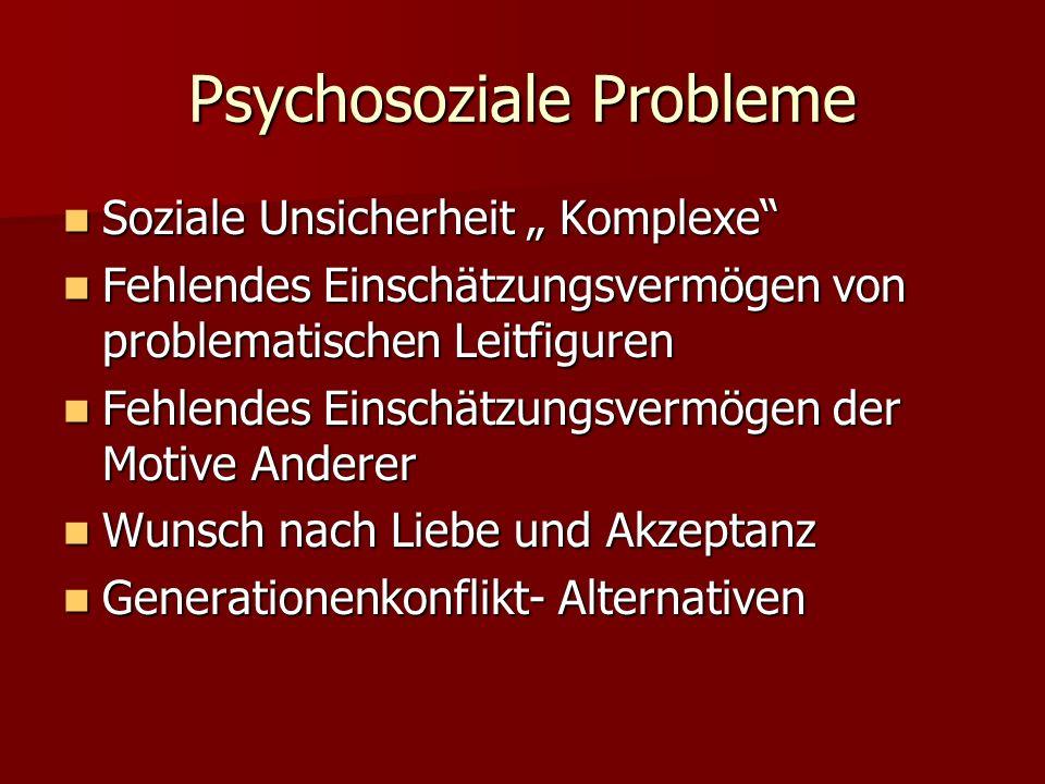 Psychosoziale Probleme