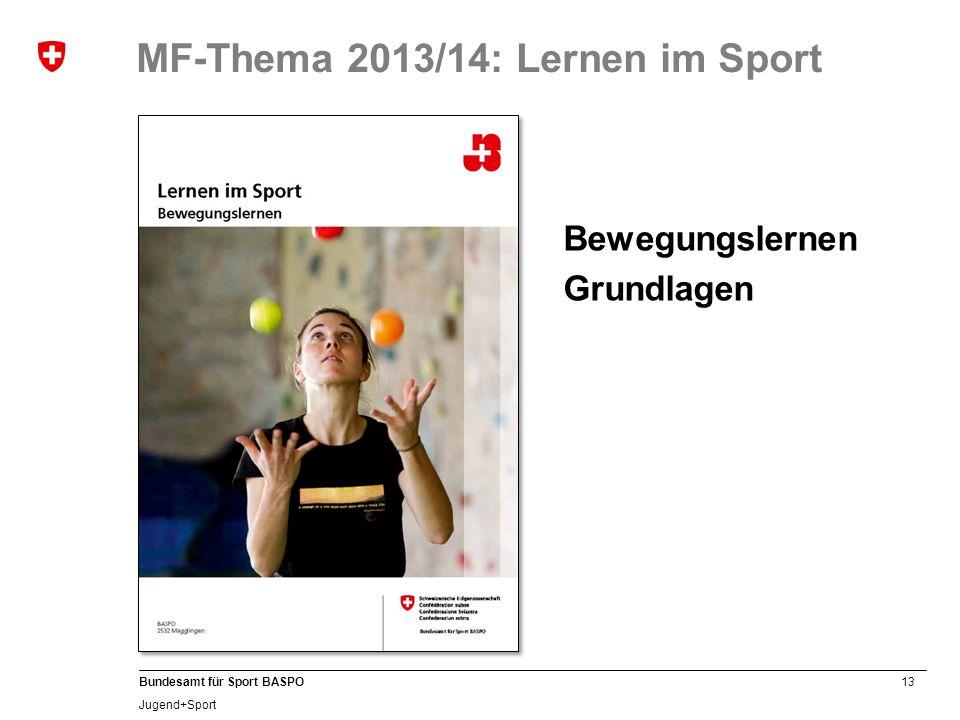MF-Thema 2013/14: Lernen im Sport