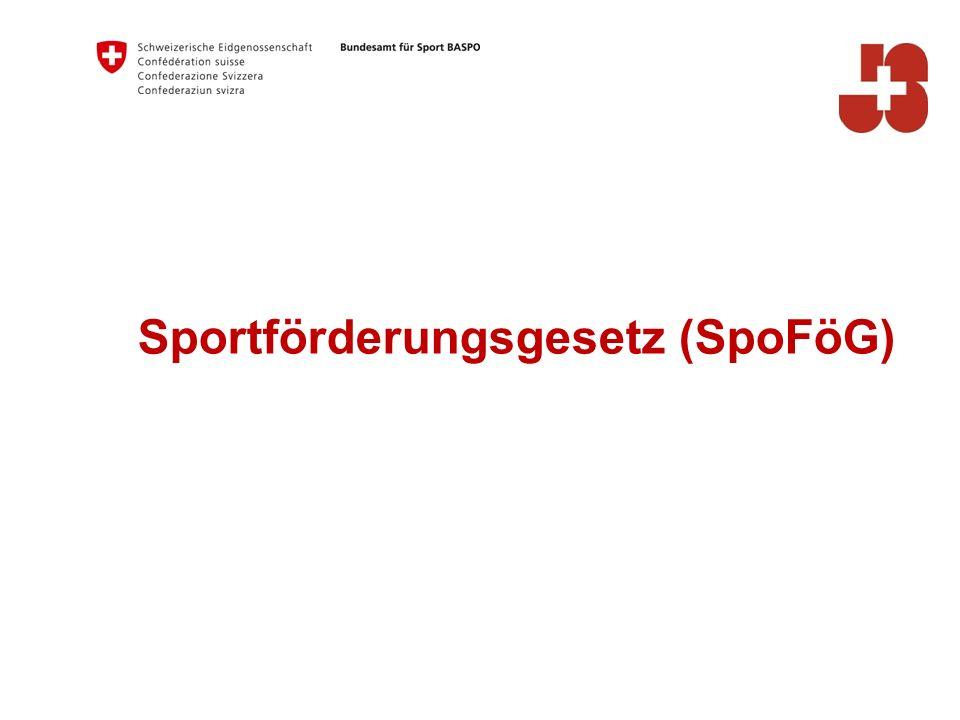 Sportförderungsgesetz (SpoFöG)