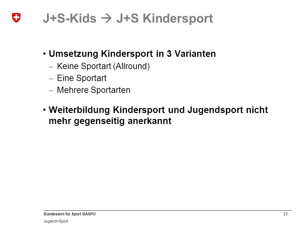 J+S-Kids  J+S Kindersport