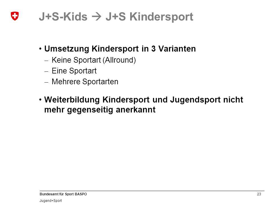 J+S-Kids  J+S Kindersport