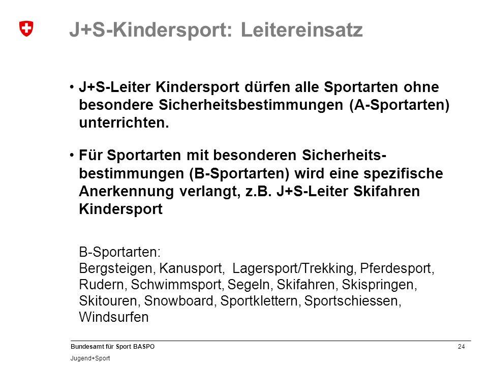J+S-Kindersport: Leitereinsatz