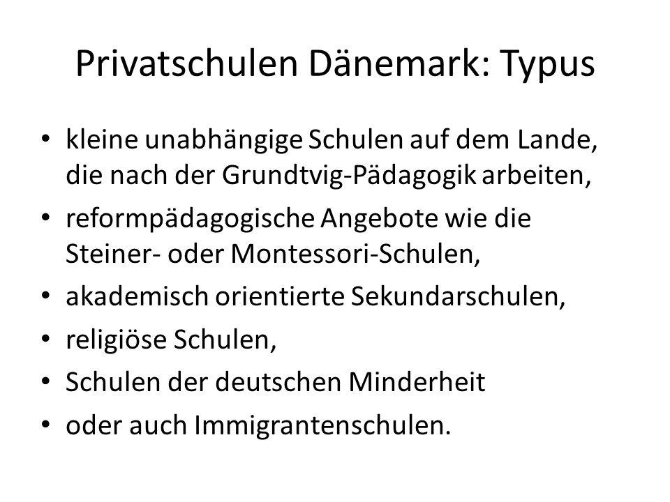 Privatschulen Dänemark: Typus