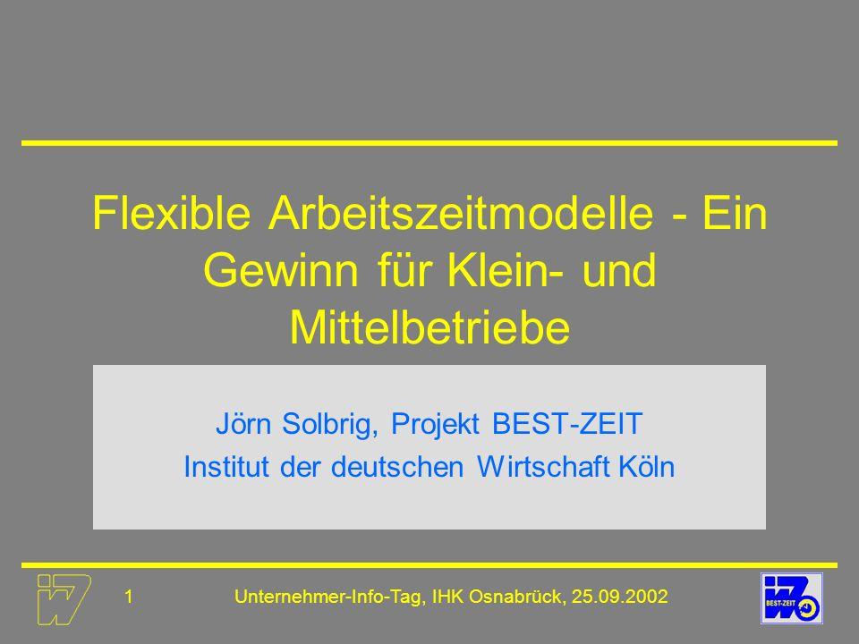 Flexible Arbeitszeitmodelle - Ein Gewinn für Klein- und Mittelbetriebe